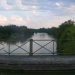Pont canal passant au dessus de l'Allier