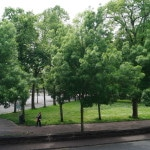 Aussicht auf dem Park Roger Salegro um Ihre Hund zu spazieren