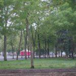vue sur le parc Roger Salengro des chambres classique de l'hôtel de Verdun à Nevers côté rue de Lourdes