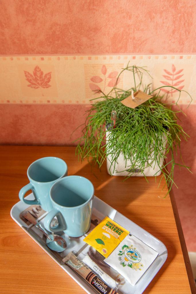 service à thé et café offert le premier jour